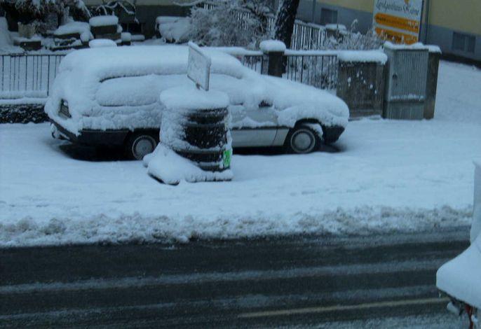 Manchmal gibt es auch bei uns Schnee, jedoch sehr selten.