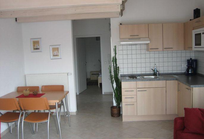 Ess u. Küchenbereich Ferienwohnung Nr. 6