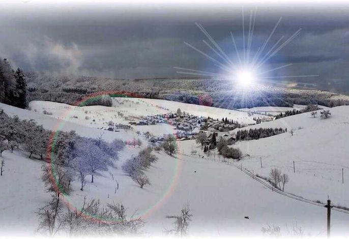 Winterlich verschneites Schuttertal