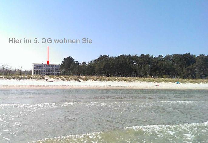 Meerblick Appartement  Ostseebad Binz Prora direkt am Strand