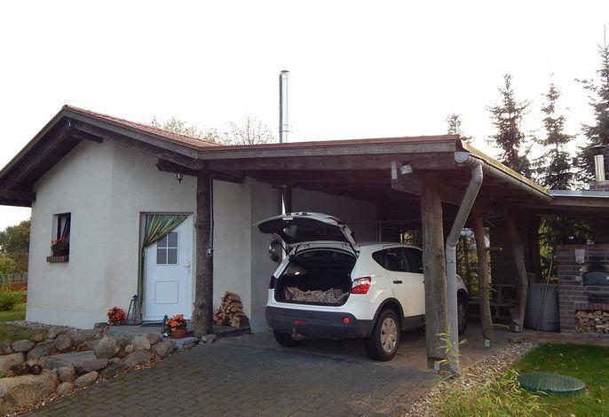 Ferienhaus mit Waldsauna am Kranichfeld