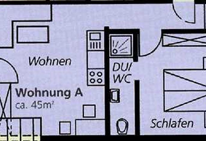 Grundriss Wohnung A