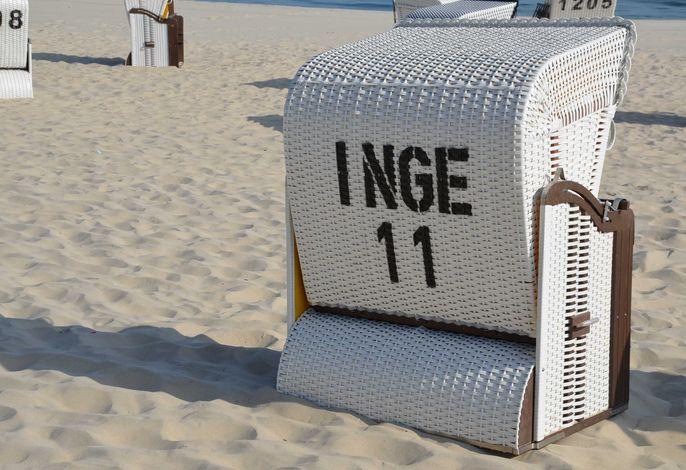 kostenfreier Strandkorb zur Buchung im Sommer