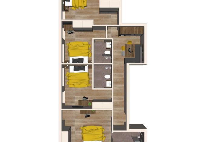 Grundriss Apartment Hochzillertal - Aparthotel AlpTirol