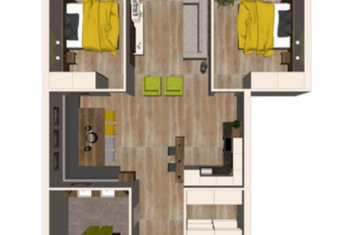Grundriss Apartment Stadlblick - Aparthotel AlpTirol