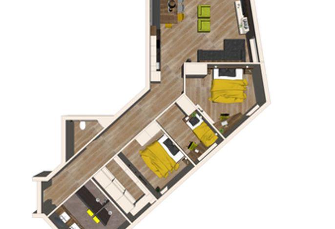Grundriss Apartment Dorfplatzl - Aparthotel AlpTirol