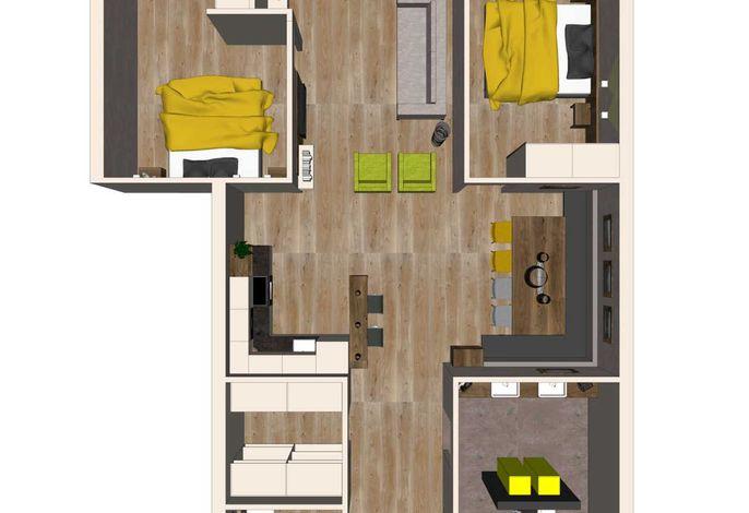 Grundriss Apartment Pferdeglück - Aparthotel AlpTirol