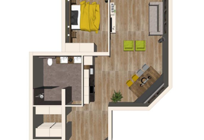Grundriss Apartment Edelweiß - Aparthotel AlpTirol