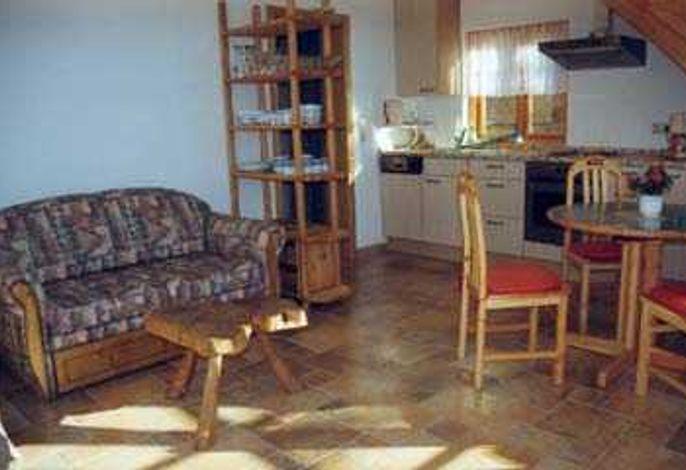 Innenansicht Wohnraum Küchenzeile