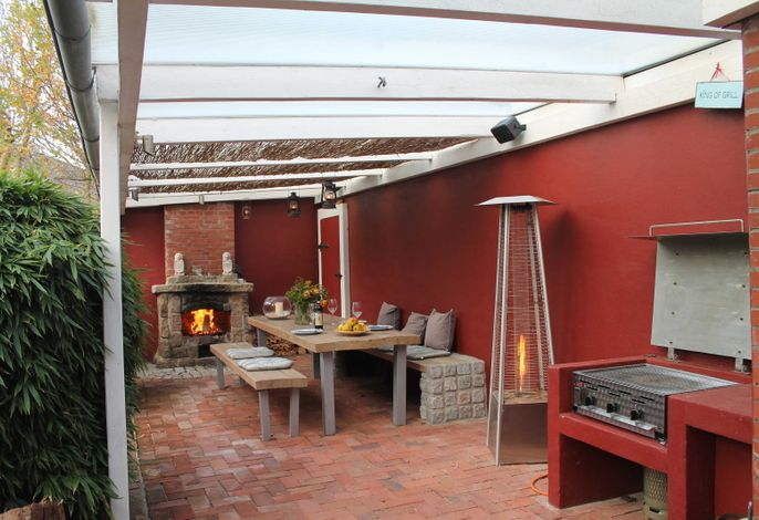 App. 1 - Ihre eigene Terrasse mit Gas-Grill,  Kamin und Heizer