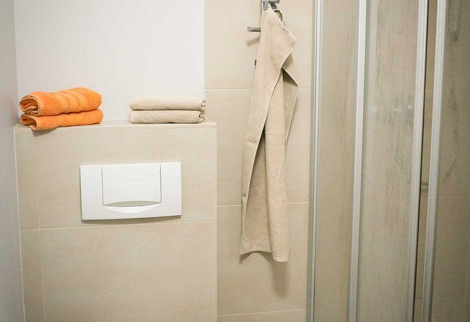Forsthaus Leiner Berg - Sommer (Zimmer 2), Bad mit Dusche