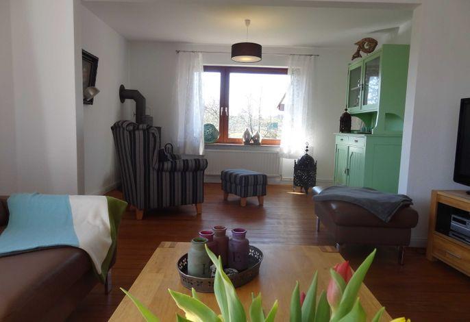 Wohnbereich mit Kaminecke