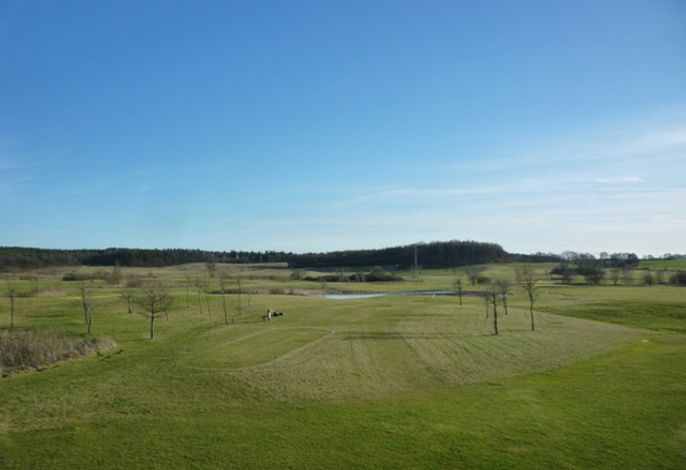 Ausblick auf den Golfplatz