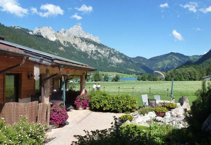Das Almdorf Tirol in Haldensee bei Familie Maurer.