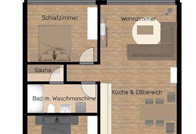 Appartement Strandidylle NP1 inklusive Sauna in Prora
