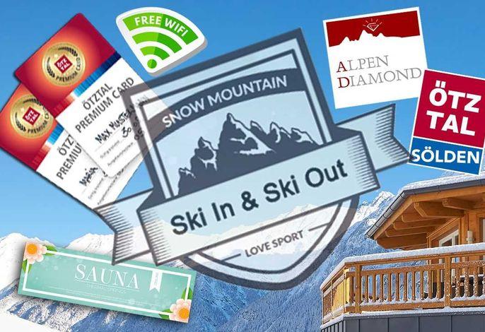 Alpendiamond Sölden, Ski in & Ski out Appartements
