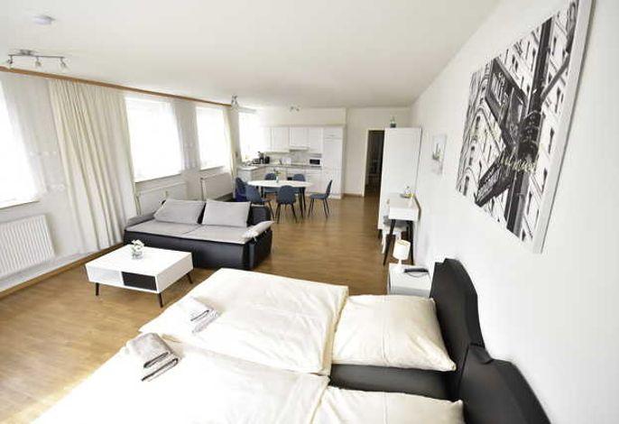 Wohnbeispiel Wohnzimmer Appartement Typ II