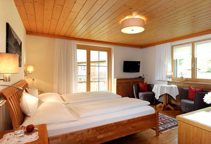 Zimmer Barbarakraut mit Balkon zum Westen - Nachmittag- und Abendsonne