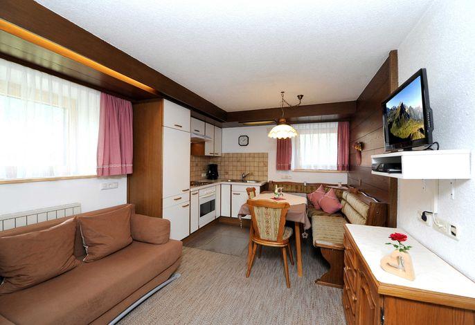 Gemütliche Wohnküche - Ferienwohnung Alpenrose