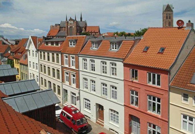 St.Georgen- Blick auf die Altstadt Wismars