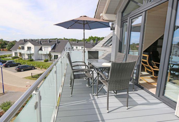 F:  Haus Windrose Whg 09 Seestern mit Balkon (Süd)