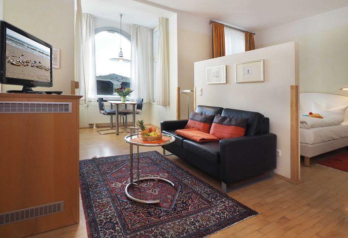SEETELHOTEL Villa Aurora, Studio, WOhnen/Schlafen