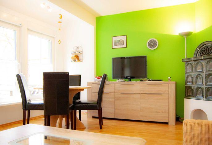 Wohnzimmer im Ferienhaus Knospe auf Usedom in Ückeritz