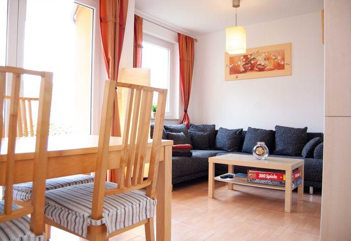Wohnzimmer in der Ferienwohnung Jäger in Ückeritz auf Usedom