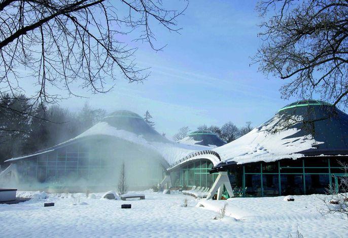Solemar Therme im Winter in Bad Dürrheim