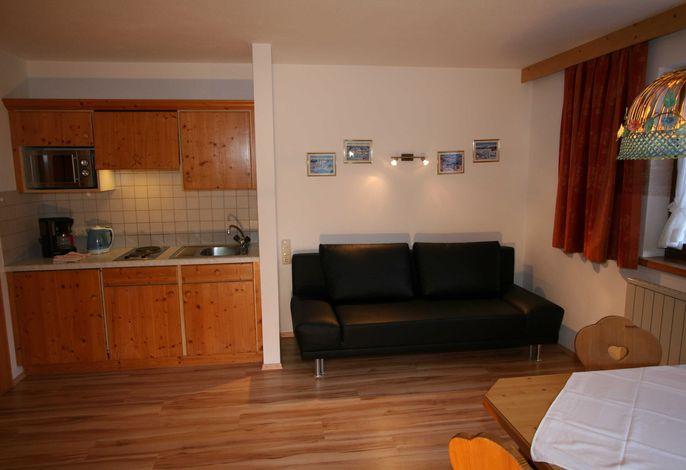Küche - Wohnzimmer - Ferienwohnung Typ B