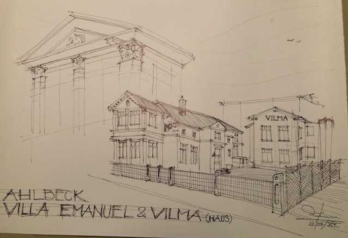 Villa Emanuel mit Meerblick