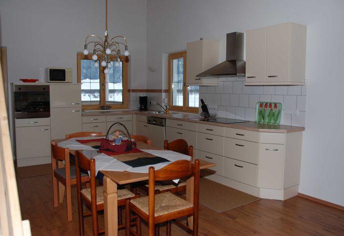 Wohnküche, Fenster zur überdachten Terasse
