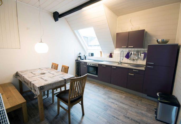 Wohnküche mit allen Elektrogeräten Wohnung 1