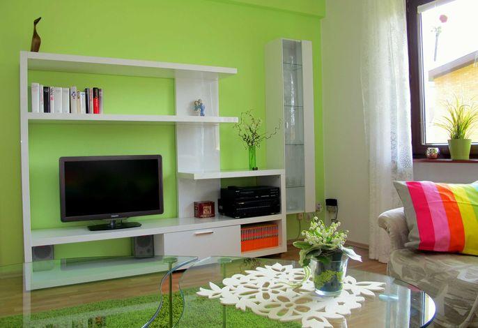 Schrankwand mit Flat-TV
