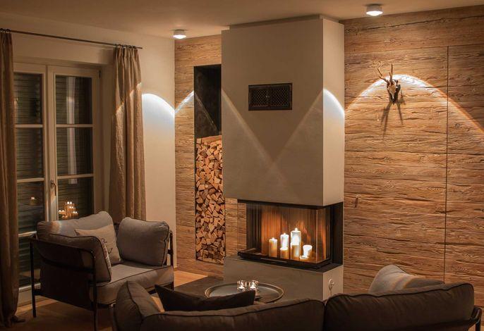 SeeSuite, Wohnzimmer mit Kamin
