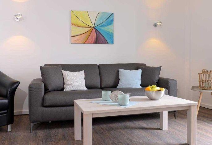 Ohlerich Speicher App. 30 - Blick auf den Wohnbereich mit einem Schlafsofa