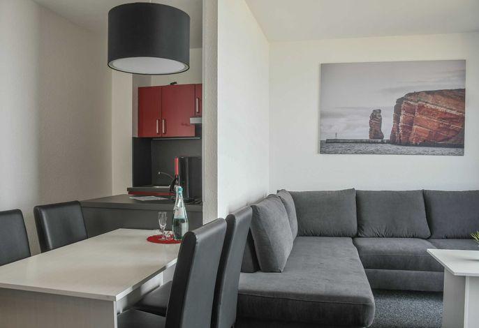 Ansicht Küche bis Wohnzimer