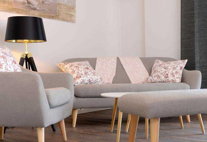 Ohlerich Speicher App. 36 - Blick auf den liebevoll eingerichteten Wohnbereich