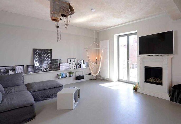 Ohlerich Speicher App. 17 - Blick auf den offenen und hellen Wohnbereich
