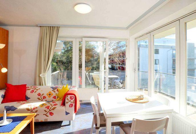Wohnzimmer Wohnung 5 Meer und Sonne, Strandläuferweg 10, St. Peter-Bad