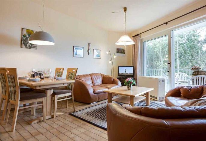 Wohnzimmer in 2-Zimmer-Ferienwohnung im Haus Atlantis,  Strandpromenade 19, St. Peter-Bad