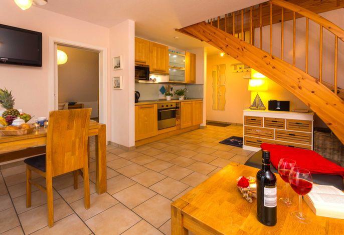 Essbereich mit integrierter Küchenzeile