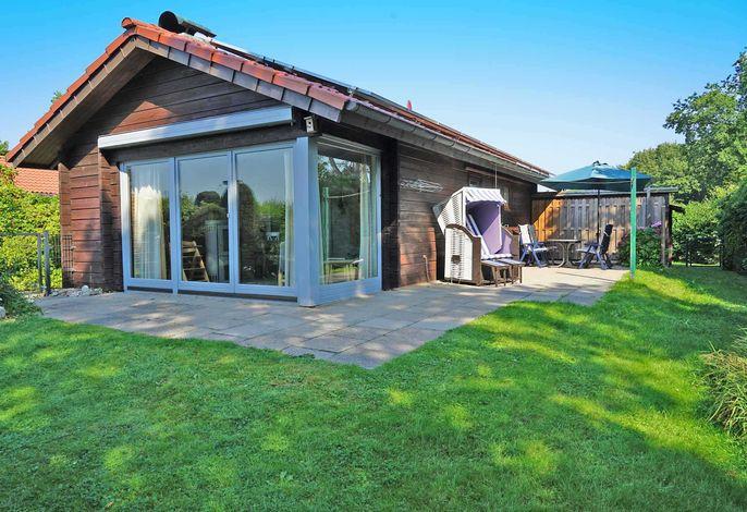 Blockhaus mit Zaun, W-LAN und grosser Terrasse