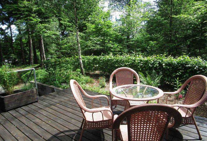 Terrasse mit Blick vom Ferienhaus aus