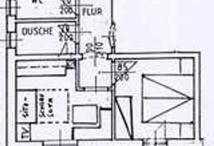 Planeinsicht Raumaufteilung Top 2. nach Westen ausgerichtet.