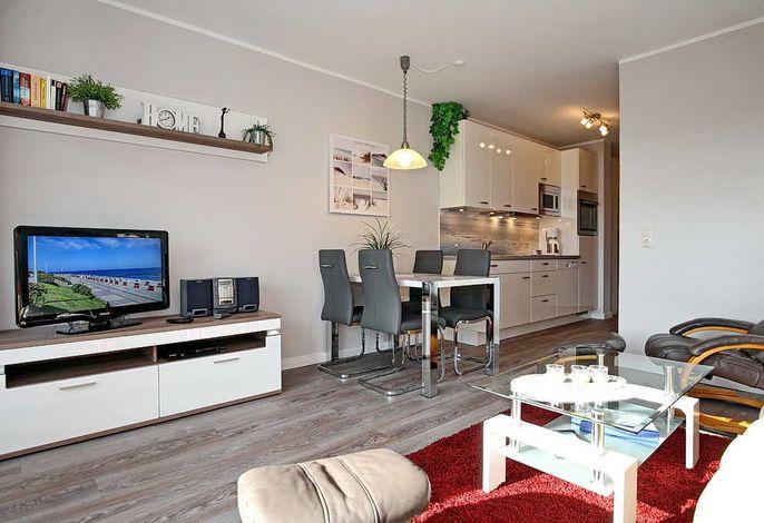 Flachbild-TV im Wohnraum