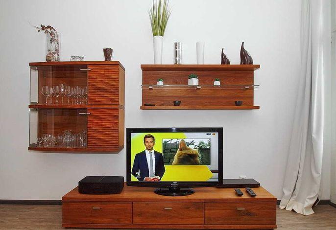Flachbild-TV im Wohnbereich
