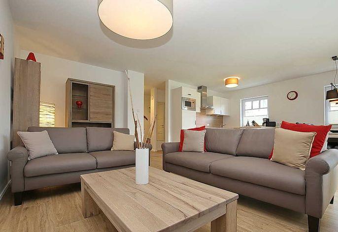 Wohnbereich mit zwei Sofas