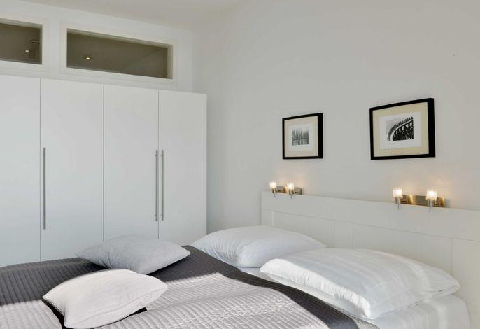 Schalfzimmer mit Doppelbett