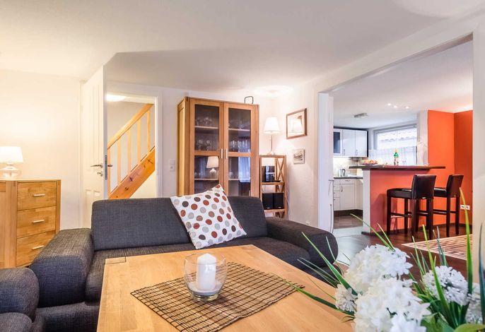 Wohnzimmer mit Schleiblick